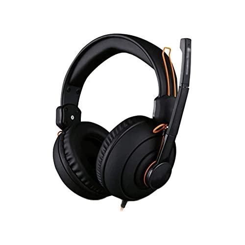 XTZJ Auriculares con micrófono, auriculares livianos for niños adultos adultos, auriculares estéreo con cable con bajos, diseño portátil for la oficina de oficinas en el hogar. Enseñanza virtual, negr