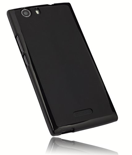 mumbi Hülle kompatibel mit Wiko Ridge 4G Handy Case Handyhülle, schwarz