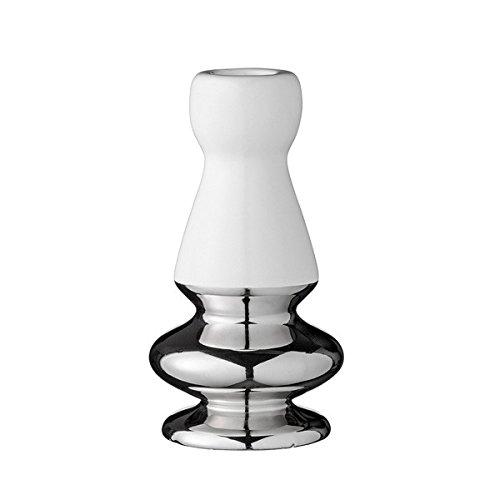 Bloomingville Kerzenhalter Naturweiß/Silber 13 cm - Kerzenständer - Design - Wohnaccessoire - Dekoidee - Hochzeit - Geschenkidee - Weihnachten