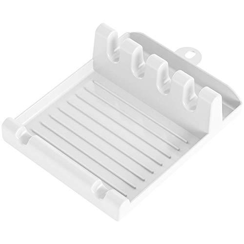 meetgre - Supporto per utensili da cucina, multifunzione in plastica, per cucchiaio, spatola, forniture da cucina, vassoio per utensili da cucina, senza BPA