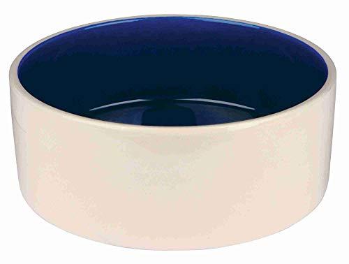 Trixie 2452 Keramiknapf, 2,3 l/ø 22 cm, creme/blau