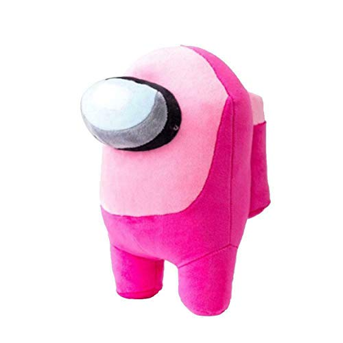 "Among Us Plush Colorful Crewmate Plushie 7.8"",Game Figure Animal Plushie Soft Cute Stuffed Dolls for Children Kids Christmas Gift (Pink)"