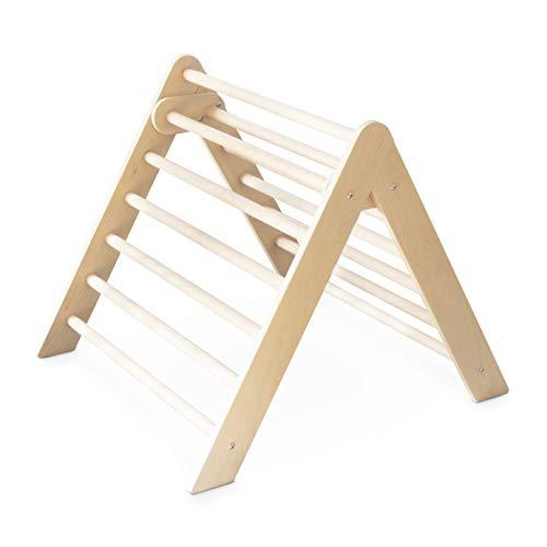 Ehrenkind® Kletterdreieck nach Pikler klappbar | massives Buchen-Holz | Sprossendreieck und Klettergeruest | Dreieck für Kinder und Baby | Indoor Klettergerüst Kinder ab 10 Monate