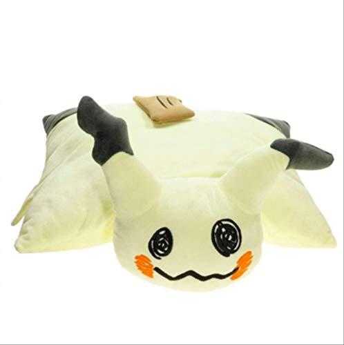 Cartoon Pokemon Mimikyu Q Plüsch ausgestopft Klappkissen Kissen Mimikyu Q Plüsch Puppe Spielzeug Home Decoration 42x40cm Laimi