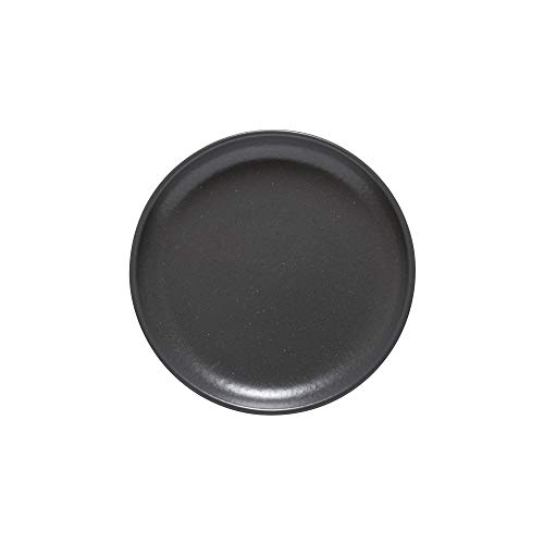 Casafina Pacifica Collection Stoneware Ceramic Bread Plate 6' (Seed Grey)