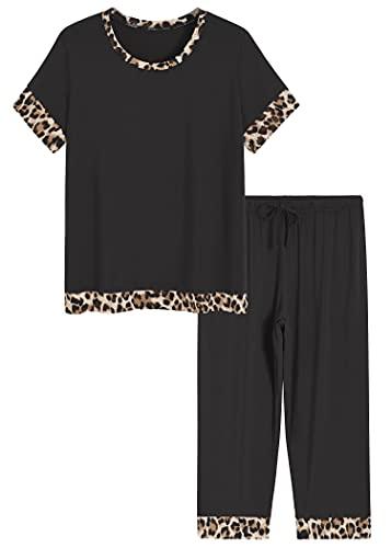 Latuza Women's Bamboo Viscose Capri Lounge Pajama Set