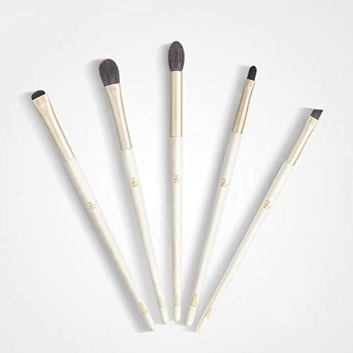 Ensemble de brosse de maquillage, 5pcs Premium Eye brosses cosmétiques pour eyeliner Eye Shadow sourcil, fibre synthétique poils cosmétiques mélange brosse outil