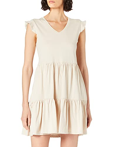 Only Onlmay Life Cap Sleeves Frill Dress Jrs Vestido, Piedra Pumice, S para Mujer