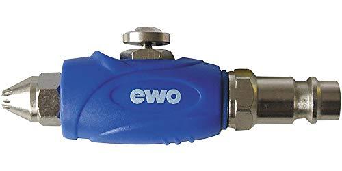 EWO Mini pistola de soplado smartblow DN 7,2 silenciador y boquilla de seguridad EWO