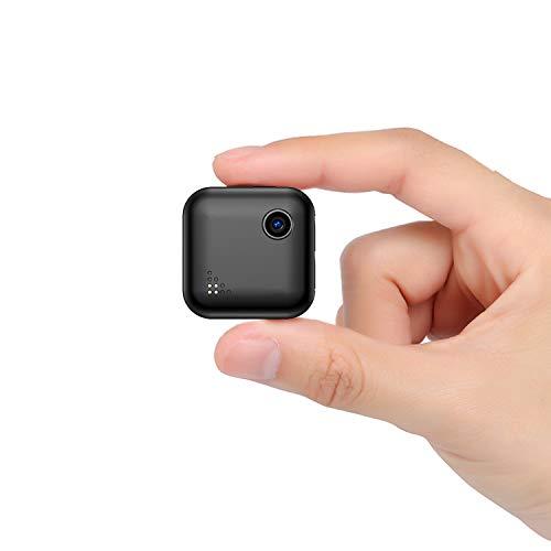 WiFi Mini Kamera, QZT WiFi Mini Überwachungskamera mit Benutzerhandbuch in 3 Sprachen (EN/DE/FR) - WLAN Kleine IP Kamera Kabellos mit Nachtsicht HD Minikamera für Innen und Aussen Sicherheit