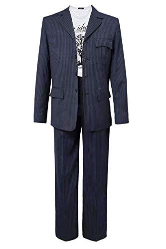 UMISS Men's 2-Piece Classic Fit Suit Office Formal Jacket & Pants Set Lake Blue