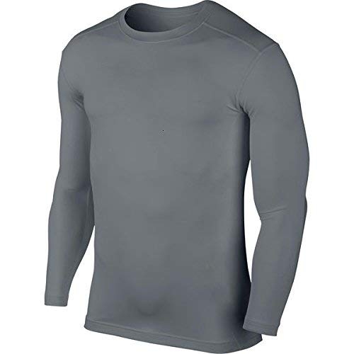 KD Willmax Compression Top Full Sleeve Plain Grey Small