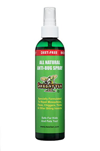 Skedattle - Natural Bug Spray | Non-Toxic, Chemical-Free Insect Repellent with Lemongrass and...