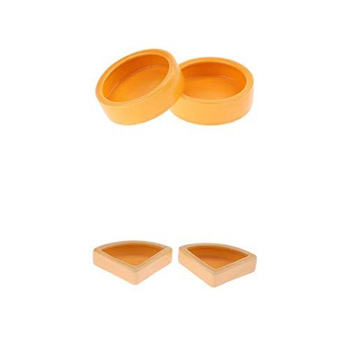 Fenteer 4er Pack Worms, Dish, Reptile, Mehlwürmer, Cups, Oder, Wasserschale, Keramik, Made