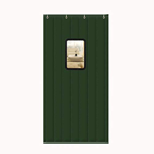 BBGS Winter verdicken Türvorhang, Türvorhang, Oxford-Stoff Verdicken Schalldichtes Transparentes Fenster, Warme Thermische Trennvorhänge für Haushaltstür-Schulrestaurant (Color : D, Size : 120X200CM)