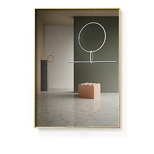 Edificio abstracto espacio interior arte cartel de pared impresión lienzo pintura arte sala de estar decoración imágenes decoración del hogar 21X30cm E