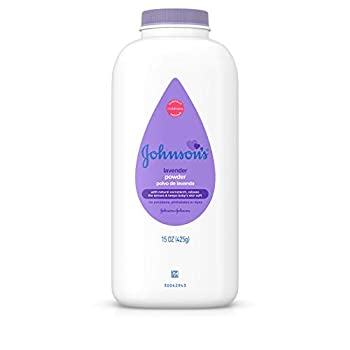 Johnson s Lavender Baby Powder with Naturally Derived Cornstarch Hypoallergenic and Paraben Free 15 oz