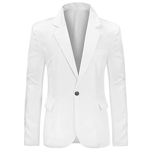 Giacche da Uomo Casual Giacche da Uomo Slim Fit Blazer One Button Suit Cappotto Solid Casual Top