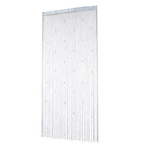 F Fityle Cortina Separadora Divisora de Habitación Decorativa 100x200cm - Gris