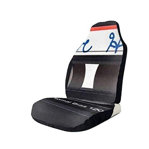 Cinta de casete vintage Cubierta de asiento de coche Grunge Asientos delanteros Solo protector de asiento de cubo completo Cojines de asiento de coche para coche SUV Camión