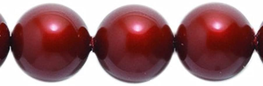 Swarovski 5810 Crystal Round Pearl Beads, 8mm, Bordeaux, 50-Pack