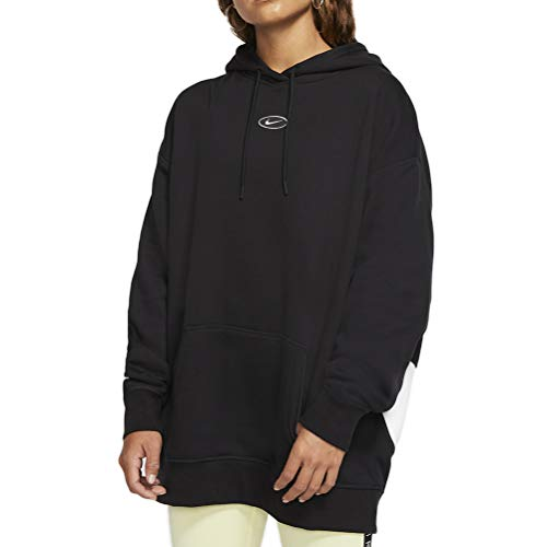 Nike Sudadera Sportswear Swoosh Negro/Blanco Mujer