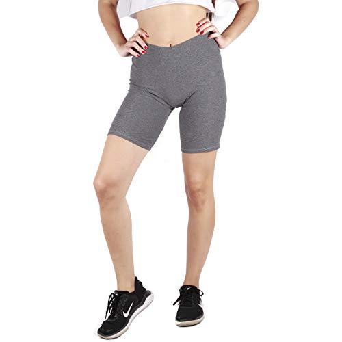 lori&jane Girls Athletic Shorts, Bike Shorts, Workout Clothes for Girls Stretch Kick Short (Charcoal, 6/7)