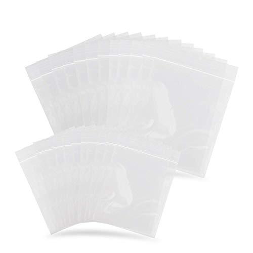 ERKOON 200 piezas Bolsas pequeñas de plástico transparente con cierre hermético Bolsas de plástico de 2 x 3 pulgadas y 3 x 4 pulgadas con cierre hermético Bolsas de plástico Bolsas con cremallera de plástico para joyas, cuentas, dulces, píldoras