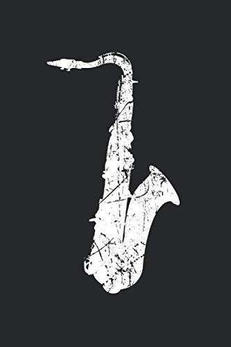 Saxophon Musik Songtexte Notizen: Musikbuch Notizbuch A5 120 Seiten liniert