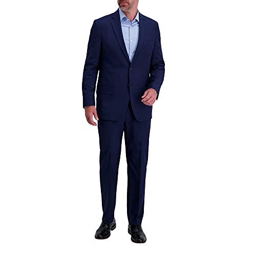 Haggar Men's Smart Wash Suit Separate Jacket, Midnight, 50 Tall