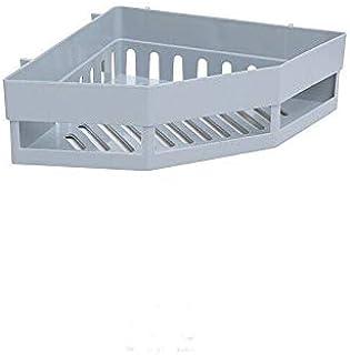 ホット浴室コーナー棚シャンプーホルダーキッチンストレージラックメスシャワー主催壁掛けホルダースペースセーバー家庭用品 (色 : グレー)