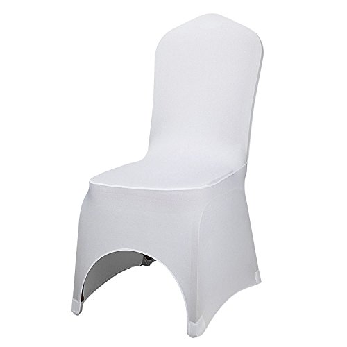 Buoqua 100pcs Stuhlabdeckung herausnehmbar 100 stück stuhlhussen Hochzeit Chair Cover Wedding für...