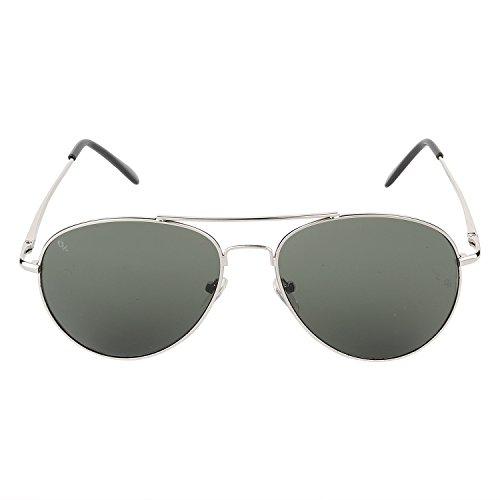 Opticalskart Gafas de sol de aviador verde para hombres (OKSM005C3)