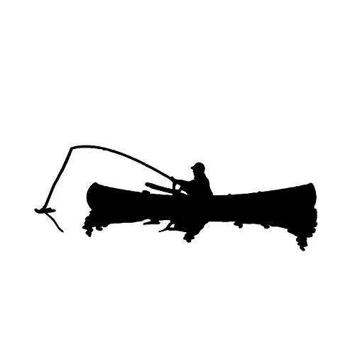 WZZA 16.2 X 6.1cm Decoración de Pesca al Aire Libre Etiqueta engomada del Coche Silueta de Vinilo Reflectante Gráfico Personalizado (Color Name : Black)