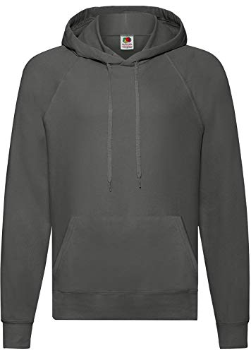 Fruit of the Loom: Lightweight Hooded Sweat 62-140-0, Größe:XL;Farbe:Light Graphite