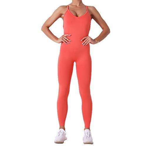 Conjunto de Ropa Fitness Deportiva para Mujer, Atractivo de una pieza de la yoga de las mujeres del mono de polainas sin espalda bodycon del vendaje Romper Butt Lift Pantalones largos de entrenamiento