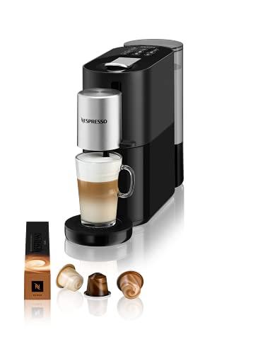 Krups XN8908 Nespresso Atelier ekspres do kawy na kapsułki | system spieniania mleka bezpośrednio w filiżance | gorące i zimne napoje | zbiornik na wodę 1 l | w zestawie szklana filiżanka Nespresso + kapsułki | ciśnienie 19 bar | czarny/srebrny