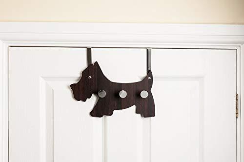 Headbourne hr0236 C 3 kledinghaken Scotty hond design boven de deur kleerhanger, dark
