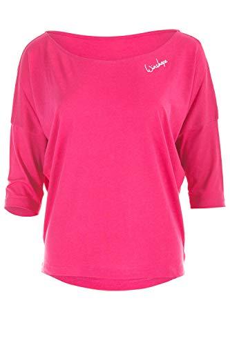 WINSHAPE Damen, MCS001, Ultra leichtes Modal-3/4-Arm Shirt 3/4-arm, deep-pink, M