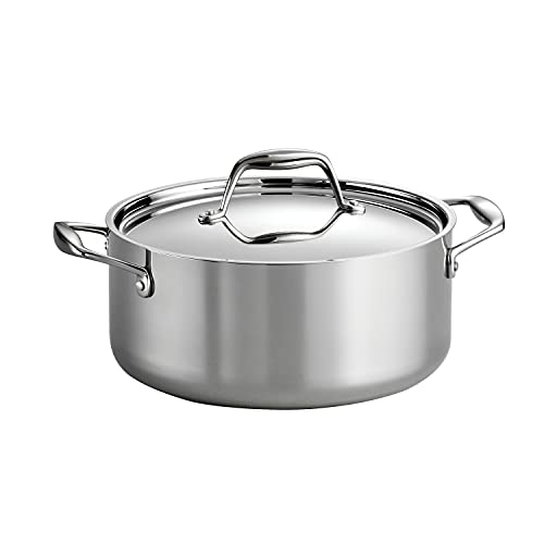Tramontina Covered Dutch Oven Stainless Steel 5-Quart, 80116/025DS