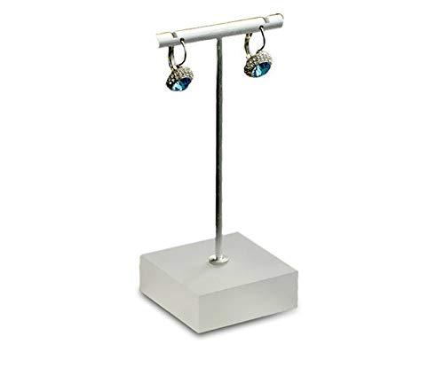 aolongwl Schmuckschatulle 3 Stück/Metall T Bar Ohrringe Display Rack Stand Frauen Schmuck Display Halter Ohr Nagel Aussteller Vitrine
