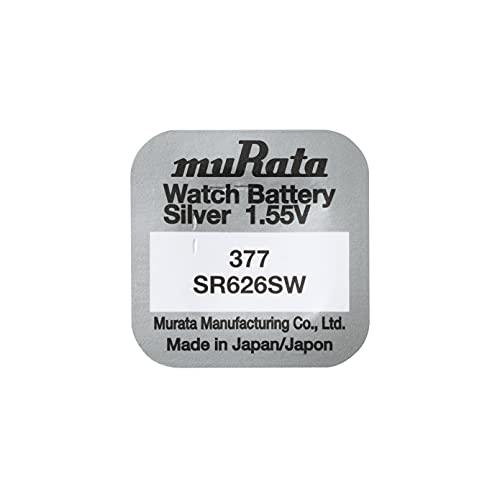 Seller-Max Murata ehemals Sony Sony Uhrenbatterie x10 Zelle Batterien Button Silber-Oxid 1,55 V-377 SR626SW ag-4 (Bulk Pack von 10)