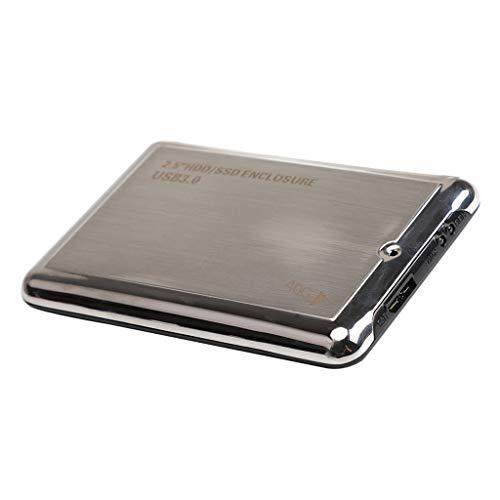 non-brand Disco Duro Externo portátil de 2.5 Ultra Delgado USB 3.0 para PC (40 GB, USB 3.0) Negro Aleación de Aluminio Esmerilado