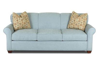 Calgary Queen Sleeper Sofa in Microsuede Sky