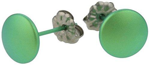 Ti2 Titanium Womens Smartie Stud Earrings - Fresh Green