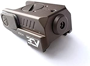 Ade Advanced Optics FDE Full Metal Body HG54-2 Mini Green Laser Sight for Glock,Ruger Security 9,HK P2000,Springfield XD,Taurus G2c,Canik tp9sf,Sig Sauer P320/P365/P226 ECT. Pistols with Rail.