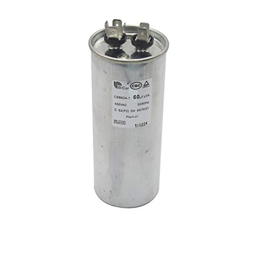 Meter Star ROHS CQC EN60252-1 Universal Air Conditioning Compressor Start-up Capacitor 20-75uf CBB65A-1 450VAC 50/60Hz C S2(P2) SH 40/70/21 Plant Oil (60uf)