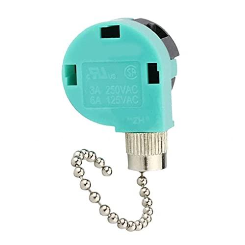 Obelunrp Interruptor de Cadena de tirón de Ventilador 3 Velocidad de reemplazo de Alambre de 4 velocidades para Control de Velocidad Color Mezclado 3pcs Herramienta de Bricolaje de Mano