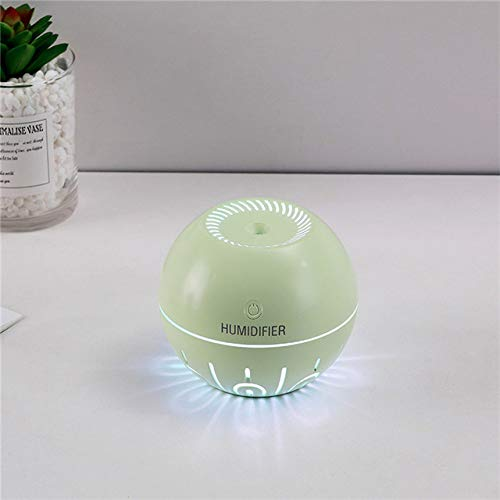 qiangdedianzishang Mini humidificador portátil portátil humidificador ultrasónico Recargable de Niebla de Aceite humidificador de Niebla de Aceite Esencial para el hogar con luz C 330ML