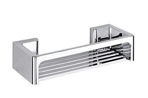 Wenko Power-Loc Duschablage Bralia, praktisches Duschregal für das Badezimmer, Befestigung ohne Bohren, Kunststoff, 30 x 7 x 12 cm, chrom